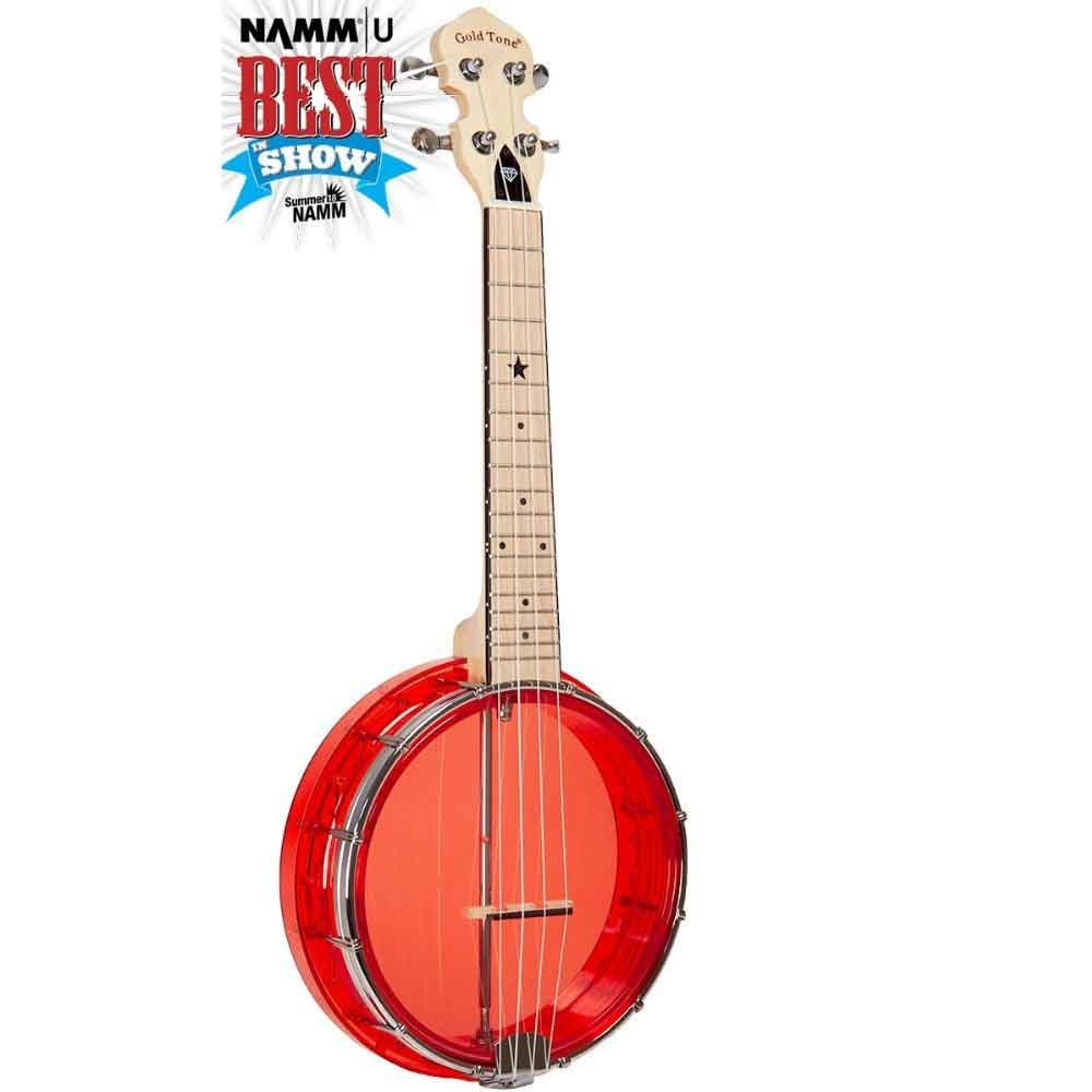 Little Gem Banjo Uke Banjo Ruby Color